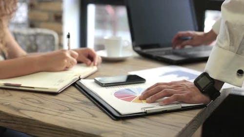 Businessman Analyze the Business Growth