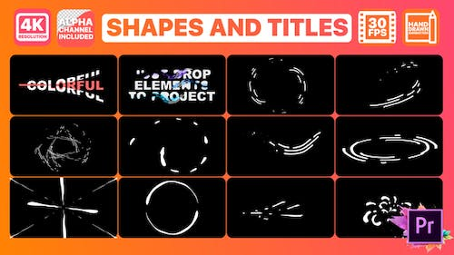 Shapes And Titles   Premiere Pro MOGRT