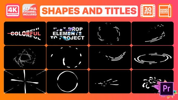 Thumbnail for Shapes And Titles | Premiere Pro MOGRT