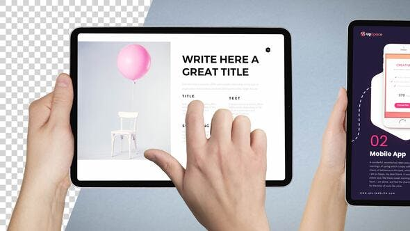 Thumbnail for Tablet PRO Mockup Template