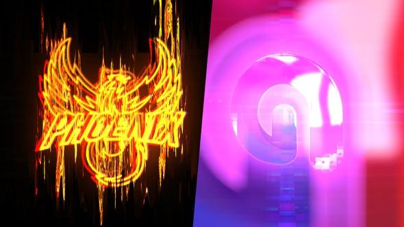Thumbnail for Abstraktes Glitch Logo Intro