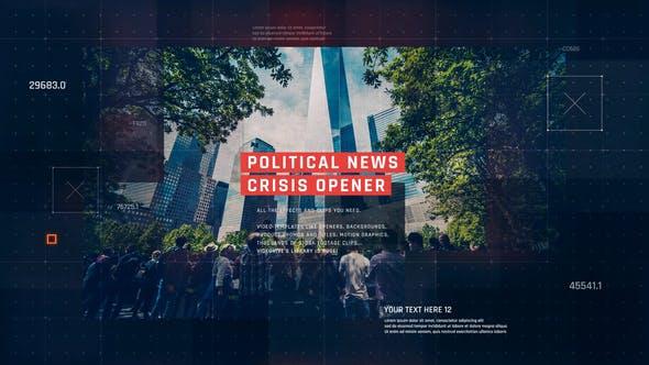 Presentación de diapositivas de noticias políticas/Abridor Corporativa digital/Negocio tecnológico/Crisis económica