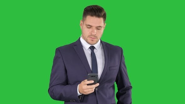 Thumbnail for Serious worried businessman trying to call someone and