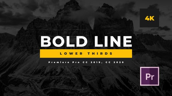 Thumbnail for Bold Line Lower Thirds