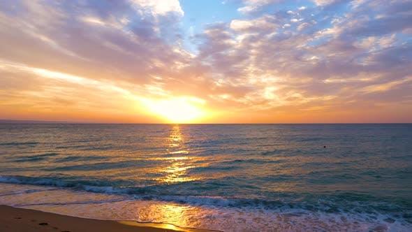 Thumbnail for Beautiful Scenic Sunrise on the Sea