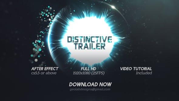 Thumbnail for Distinctive Cinematic Trailer  l  Particles Lights Trailer  l  Particles Waves Trailer