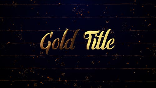 Gold Titles (Particles Intro)