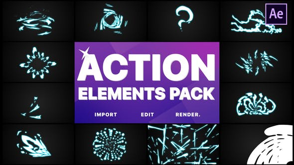 Thumbnail for Action Elements | After Effects