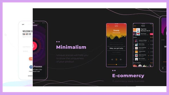 Dark / Light App Promo Minimalism Showreel