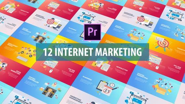 Thumbnail for Internet Marketing - Flat Animation (MOGRT)