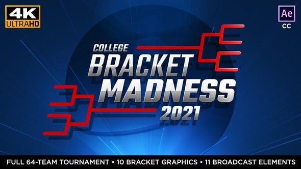 College Basketball Bracket Madness   Tournament Bracket Package