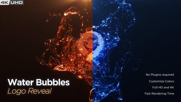 Water Bubble Logo Reveal
