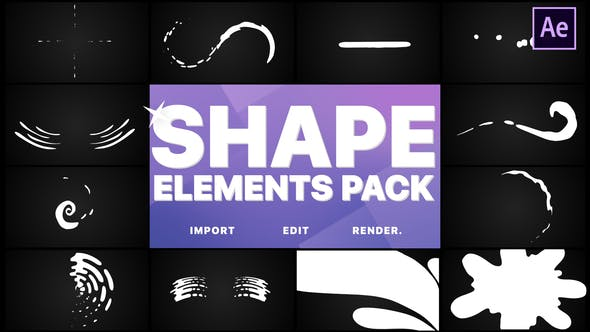 Thumbnail for Shapes Collection | After Effects
