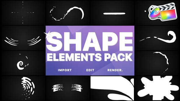 Thumbnail for Shapes-Sammlung | FCPX