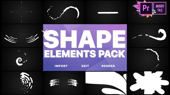 Thumbnail for Shapes Collection | Premiere Pro MOGRT