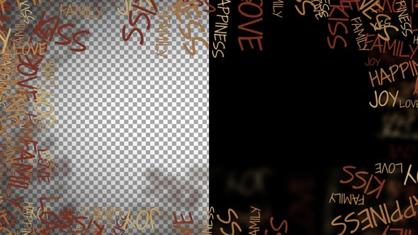 Thumbnail for Love Words Frame And Transitions