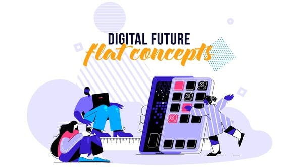 Thumbnail for Digital Future - Flat Concept