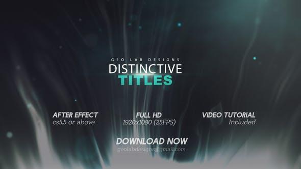 Thumbnail for Distinctive Titles  l  Particles Lights Titles  l  Lines Waves Titles