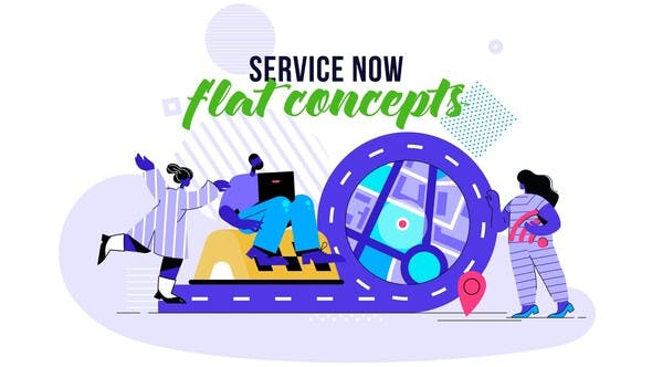 Thumbnail for Service Now - Flat Concept