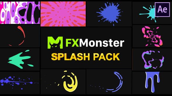 Thumbnail for Splashes Pack | After Effects