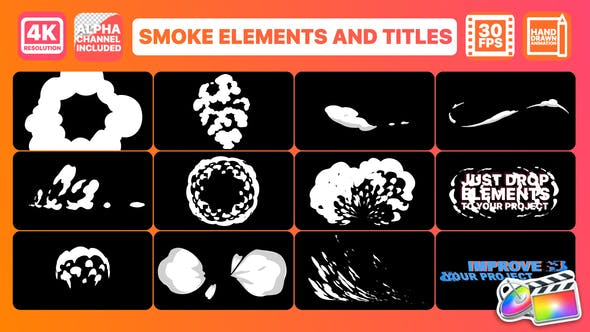 Thumbnail for Smoke And Titles | FCPX
