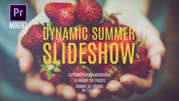 Thumbnail for Summer Dynamic Slideshow MOGRT