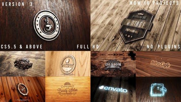Photo Realistic Logo Mockup Pack 02 : Wood Pack ( Version 3 : Neon )