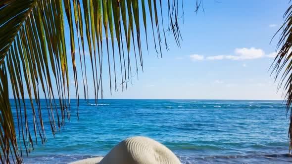 Thumbnail for Woman in hammock on beach