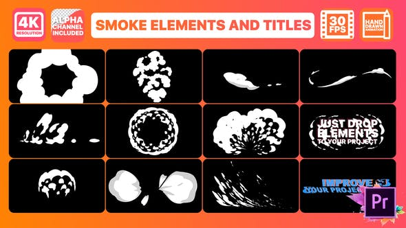 Thumbnail for Smoke And Titles | Premiere Pro MOGRT