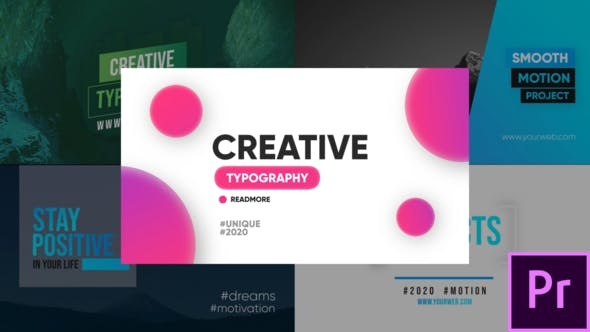 Thumbnail for Creative Typography - Premiere Pro
