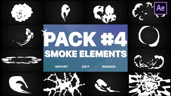 Thumbnail for Smoke Elements Pack 04 | After Effects