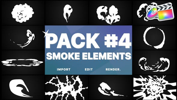 Thumbnail for Smoke Elements Pack 04 | FCPX