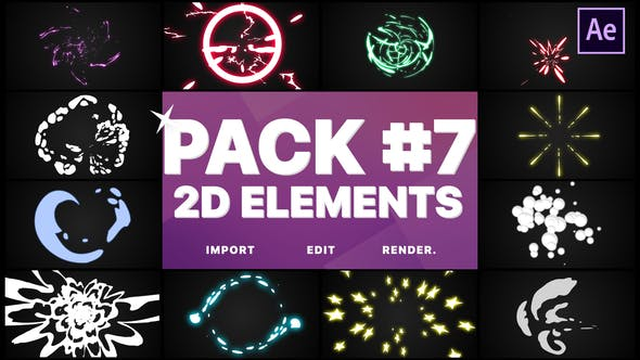Thumbnail for Flash FX Elements Pack 07 | After Effects