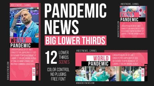 Pandemic News - Big Lower Thirds