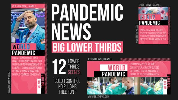 Thumbnail for Pandemic News - Big Lower Thirds