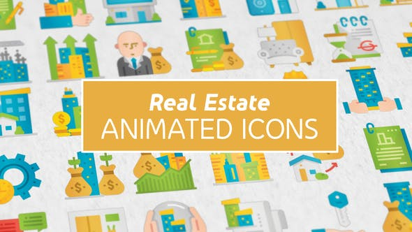 Thumbnail for Real Estate Modern Flat Animated Icons