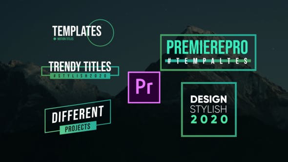 Thumbnail for Titles modernes - Premiere Pro