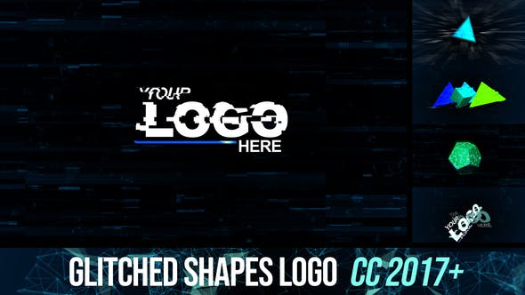 Thumbnail for Glitched shapes logo intro
