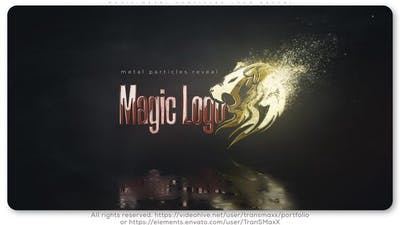 Magic Metal Particles Logo Reveal