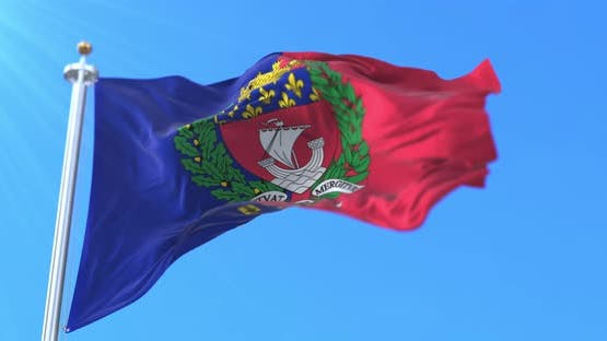 Flag of the Capital City of Paris, France