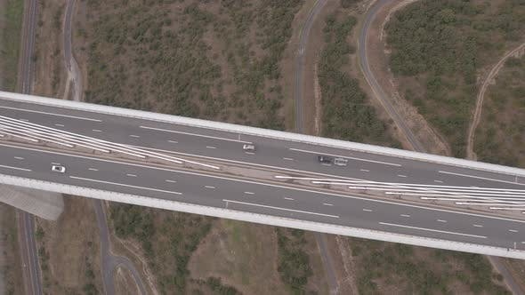 Thumbnail for Aerial view of cars on the Millau Viaduct