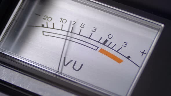Thumbnail for Analog Signal Indicator with Arrow. Meter of the Audio Signal in Decibels