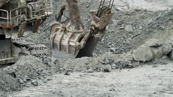Thumbnail for Scoop Of Excavator Is Digging Hole
