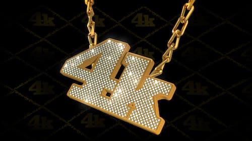Hip-Hop Style Bling-Bling 3D Pendant on Chain