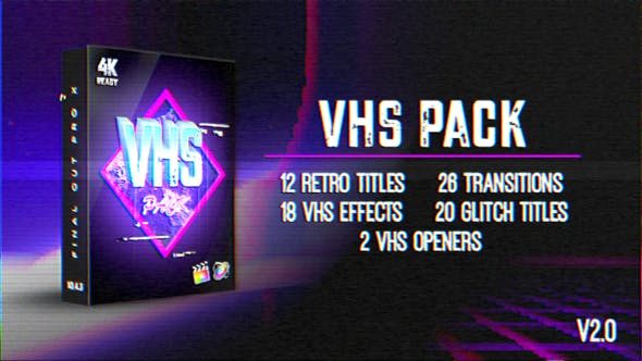 Thumbnail for VHS Pack | FCPX