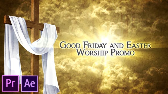 Thumbnail for Good Friday and Easter Worship Promo Pack - Premiere Pro