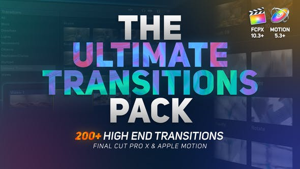 Thumbnail for The Ultimate Transitions Pack - Final Cut Pro X et Apple Motion