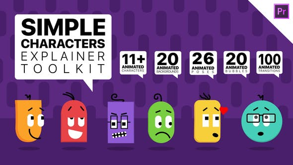Thumbnail for Simple Characters Explainer Toolkit | Essential Graphics Mogrts