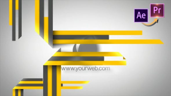 Thumbnail for Stripes Logo Revelear - Premiere PRO