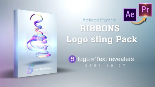 Thumbnail for Ribbon logo Sting Pack - Premiere PRO